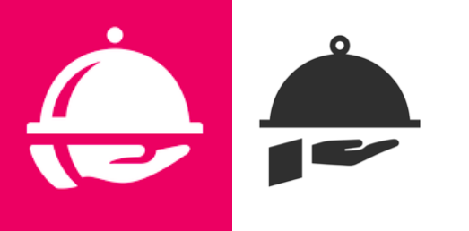 Foodora vs. Waitress logo