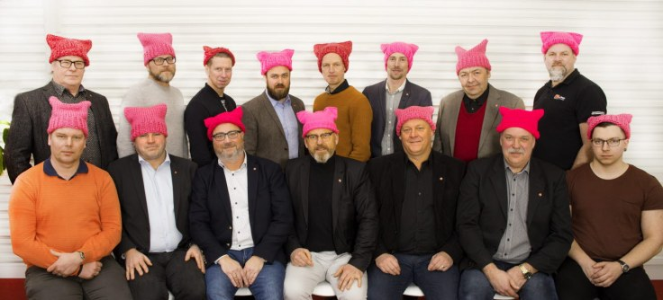 Byggnads board of directors Pussy hats